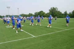 University of Kentucky practice football synthetic