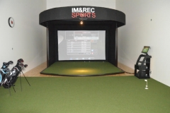 University of Louisville indoor golf simulater